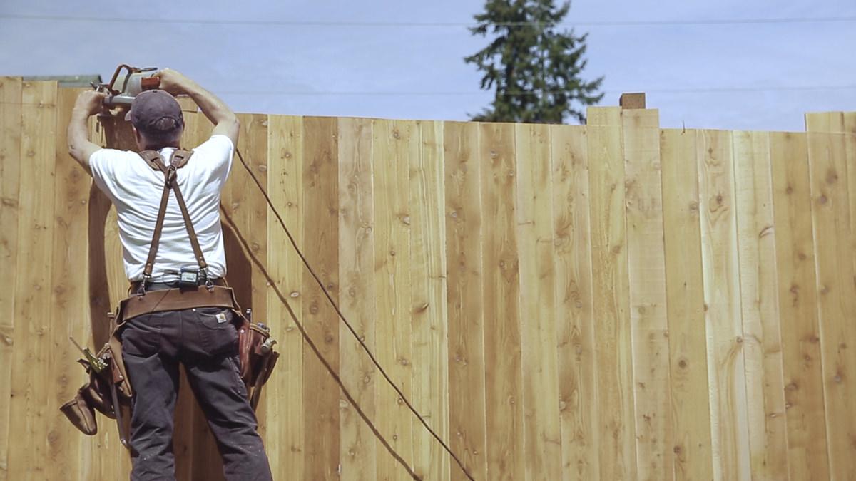 Cedar Wood Fence Installation Augusta